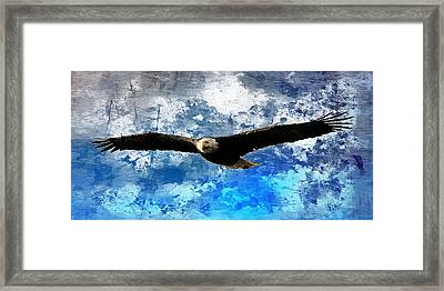 Framed Print featuring the digital art Soaring by Carrie OBrien Sibley