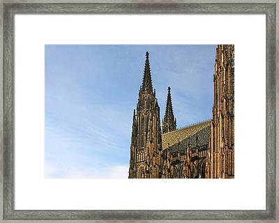 Soaring Spires Saint Vitus' Cathedral Prague Framed Print by Christine Till