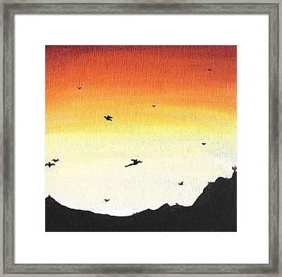 Soaring Sunset 2 Framed Print by Jera Sky