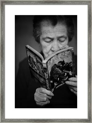 Sober Reading Framed Print