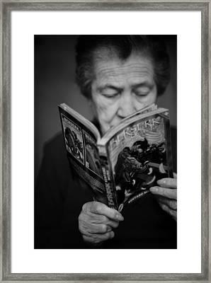 Sober Reading Framed Print by Laura Melis