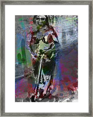 Sober Scooter Framed Print by James Thomas