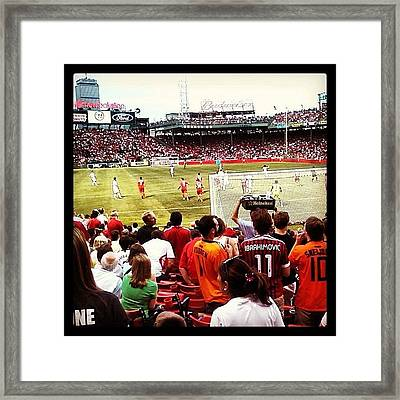 Soccer At Fenway Framed Print
