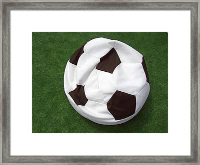 Soccer Ball Seat Cushion Framed Print by Matthias Hauser