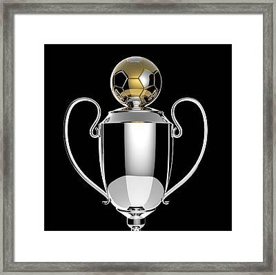 Soccer Golden Award Trophy. Framed Print by Kittisak Taramas