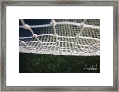 Soccer Net Framed Print by Paul Edmondson