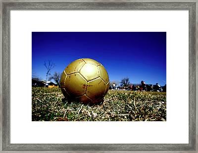 Soccer Season Starts Framed Print