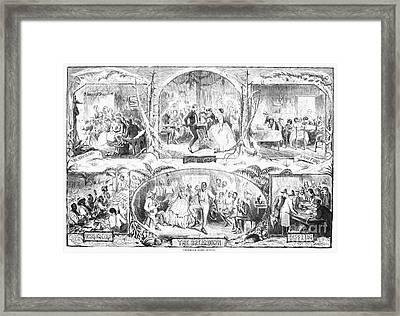 Social Activities, 1861 Framed Print by Granger