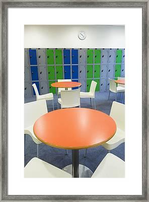 Social Area Of A Modern Secondary Framed Print by Iain  Sarjeant