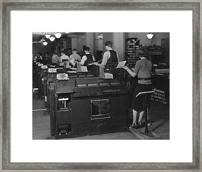 Social Security Administration Clerks Framed Print
