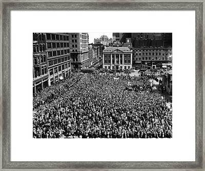Socialists At Their May Day Celebration Framed Print by Everett