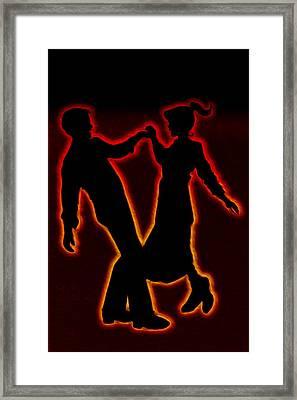 Sock Hop Framed Print by Linda Tiepelman