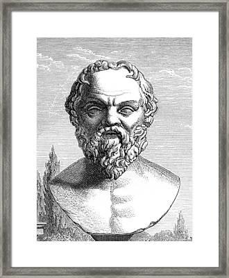 Socrates, Ancient Greek Philosopher Framed Print