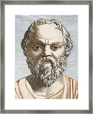 Socrates, Ancient Greek Philosopher Framed Print by Sheila Terry