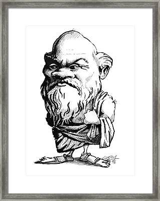 Socrates, Caricature Framed Print by Gary Brown