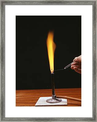 Sodium Flame Test Framed Print by Andrew Lambert Photography