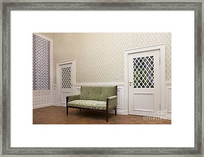Sofa In Alatskivi Castle Framed Print by Jaak Nilson