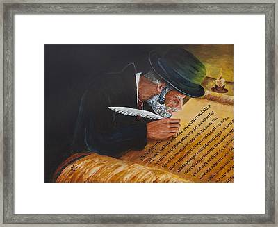 Sofer Stam Framed Print by Itzhak Richter
