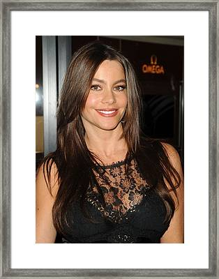Sofia Vergara At A Public Appearance Framed Print