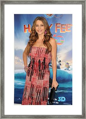 Sofia Vergara Wearing A Carolina Framed Print by Everett