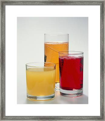 Soft Drinks Framed Print by Sheila Terry
