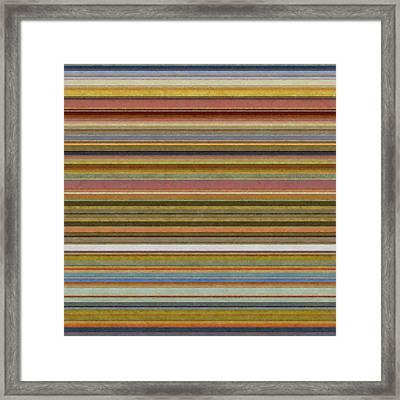 Soft Stripes L Framed Print by Michelle Calkins