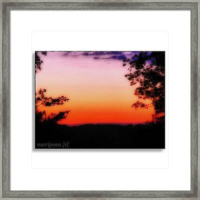 Soft Sunset In The Smokies Framed Print