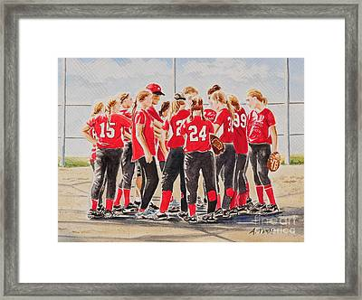 Softball Season Framed Print by Andrea Timm