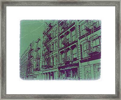 Soho New York Framed Print by Naxart Studio