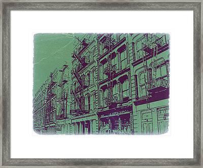 Soho New York Framed Print by Naxart Studio