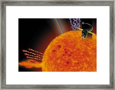 Soho Satellite & Sun Framed Print