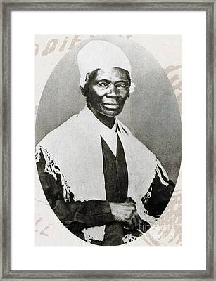 Sojourner Truth, African-american Framed Print by Photo Researchers