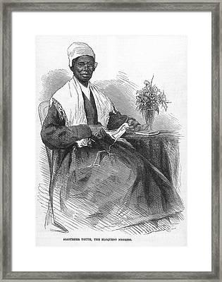 Sojourner Truth (d.1883) Framed Print by Granger