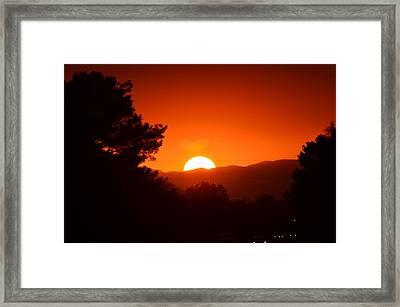 Sol Framed Print by Alberto Sanchez