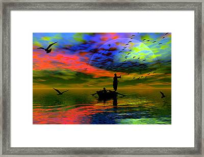 Framed Print featuring the digital art Solace by Shadowlea Is