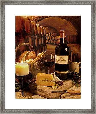 Solaia In The Cave Framed Print by Mel Felix
