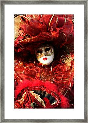 Framed Print featuring the photograph Solanges Hat Of Ribbons by Donna Corless