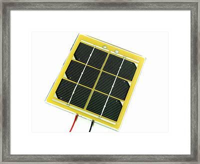 Solar Cell Framed Print by Friedrich Saurer