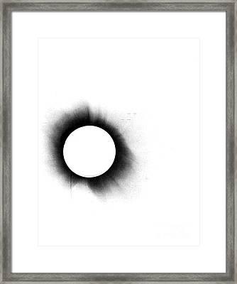 Solar Eclipse, 1919, Negative Image Framed Print