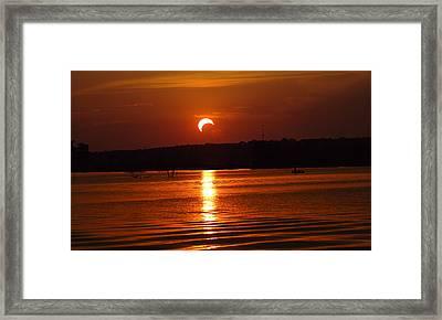 Solar Eclipse 2012 - Fort Worth Texas Framed Print by Elizabeth Hart