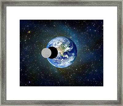 Solar Eclipse A Framed Print by Bruce Iorio
