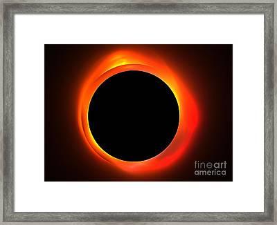 Solar Eclipse Framed Print by Kim Sy Ok