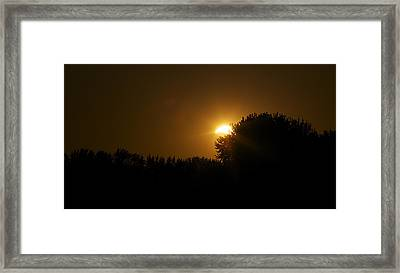 Solar Eclipse Sunset Framed Print