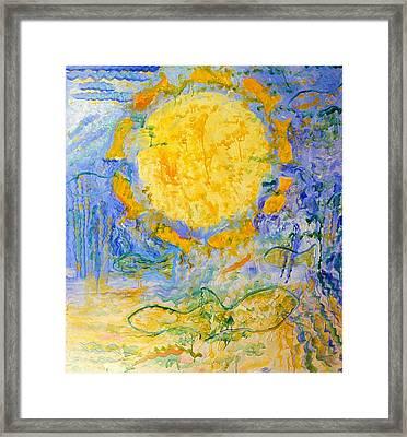 Solar Fish Framed Print