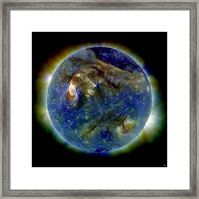Solar Flare, 1 August 2010, Sdo Image Framed Print by Nasa