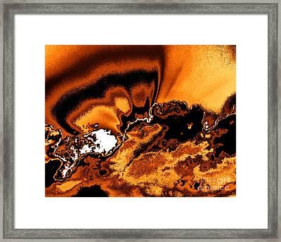Solar Flare Framed Print by Rebecca Margraf