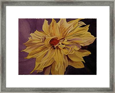 Framed Print featuring the painting Solar Flares by Teresa Beyer
