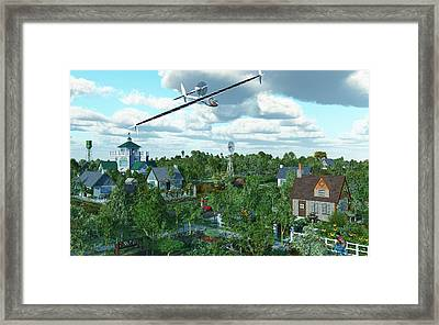 Solar Flight Framed Print by Diana Morningstar