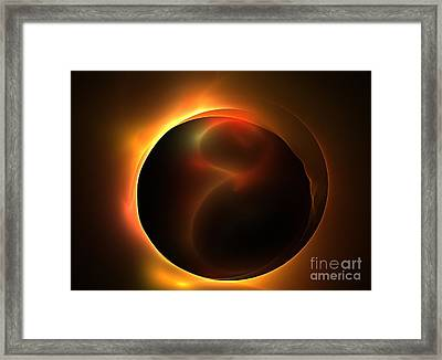 Solar Horizon Framed Print by Kim Sy Ok