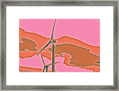 Solar Power Framed Print by Elizabeth  Doran